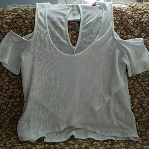 Ladies new cold shoulder top by GUESS